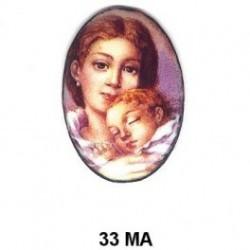 Madre con niño Oval 33 m.m.