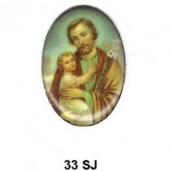 San Jose con niño Jesus Oval 33 m.m.