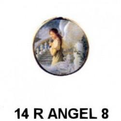 Angelito niña con estrella redondo 14m.m. diametro