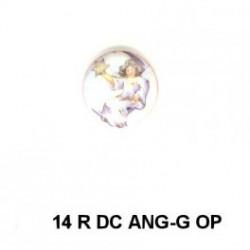 Angel niña con estrella 14m.m. diametro