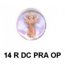 Niño de Praga redondo 14m.m. diametro