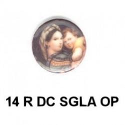 Virgen Maria SGLA redondo 14m.m. diametro
