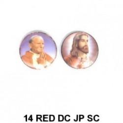 Papa Juan Pablo II y  Jesus  redondo 14m.m. diametro