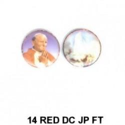 Papa Juan Pablo II y Virgen de Fatima redondo 14m.m. diametro