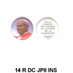 Papa Juan Pablo II e inscrpcion redondo 14m.m. diametro