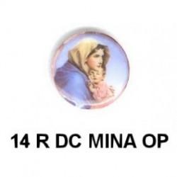 Virgen María redondo 14m.m. diametro