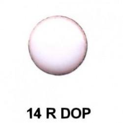 Dorso esmaltado en blanco redondo 14m.m. diametro