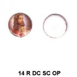 Jesucristo Sagrado Corazón 14m.m. diametro