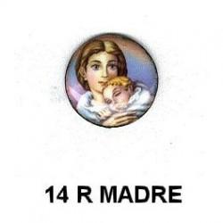 Madre con niño redondo 14m.m. diametro