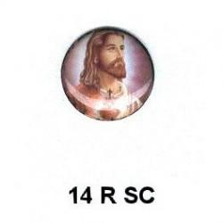 Jesucristo redondo 14m.m. diametro