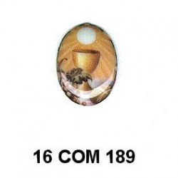 Esmalte Comunión Caliz Oval 16 m.m.