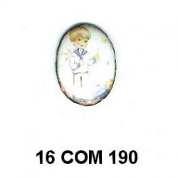 Esmalte Comunión niño Oval 16 m.m.