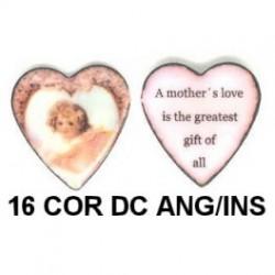 Corazón Angel día de la Madre 16m.m. diametro