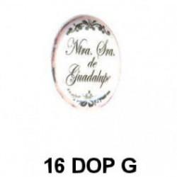 Dorso esmaltado inscripcion Milagrosa oval 16 m.m.