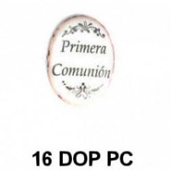 Dorso esmaltado Primera Comunión oval 16 m.m.