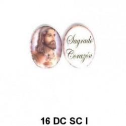 Jesus esmalte  oval de 16m.m.