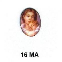 Madre y niño Oval 16 m.m.