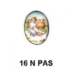 Niño pastorcillo Oval 16 m.m.
