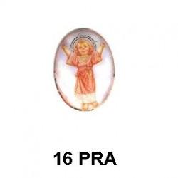 Niño de Praga Oval 16 m.m.