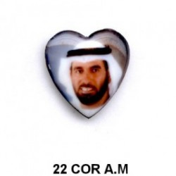 Arabe retrato corazon 22 m.m.