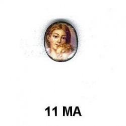 MADRE CON NIÑO  OVALADO 11 M.M.