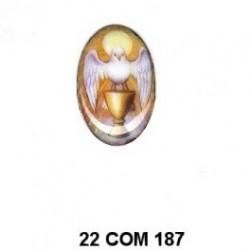 esmalte Comunión CALIZ Oval 22 m.m.