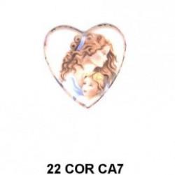 Corazón Camafeo Mujer con niño 22m.m.