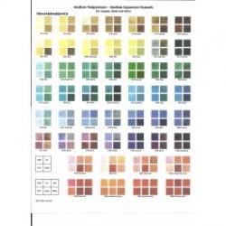 Muestras de Esmaltes Media temperatura TRANSPARENTES 169 colores2015
