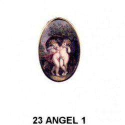 Angelitos en Oval 23 m.m.