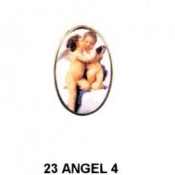 Angelitos esmaltados en Oval 23 m.m.