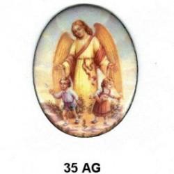 Arcangel San Gabriel Oval 35 m.m.