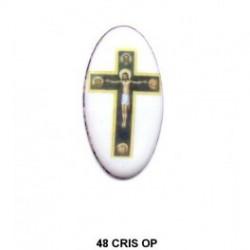 Esmalte Cruz ortodoxa ovalado 48 m.m. diametro