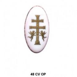 Esmalte Cruz  ovalada 48 m.m. diametro
