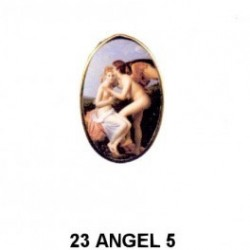 Angel mujer Oval 23 m.m.