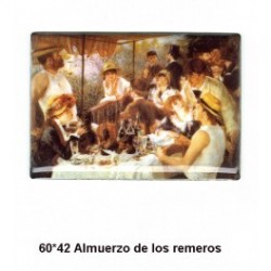 Pintura Almuerzo remeros 60x42 m.m.