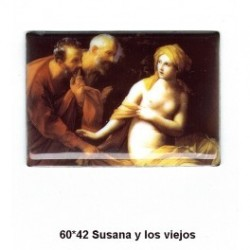 Pintura Susana y los Viejos 60x42 m.m.