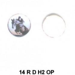 Caballos Hipica redondo 14m.m. diametro