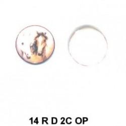 Caballos esmalte redondo 14m.m. diametro