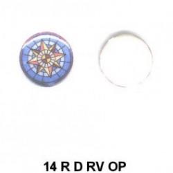Brujula de esmalte redondo 14m.m. diametro