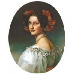 Dama esmalte Auguste Atrobel Oval 22 m.m.