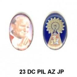 Pap Juan Pablo II/ Virgen del Pilar Oval 23.m.m