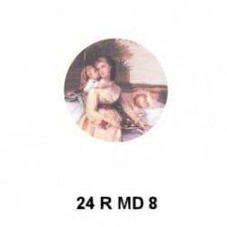 Madona con niños redondo 24 m.m.diametro