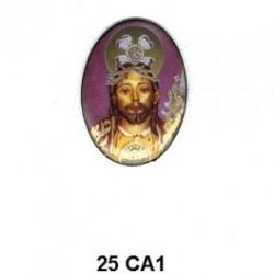 Jesucristo Oval 25 mm