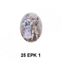 Pareja s.XVII bailando Oval 25 mm