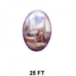 Virgen de Fátima Oval 25 mm