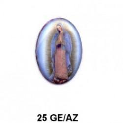 Virgen de Guadalupe Oval 25 mm