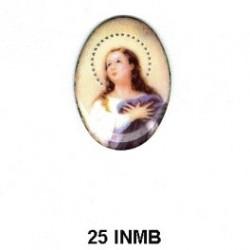 Virgen de esmalte Inmaculada Oval 25 mm