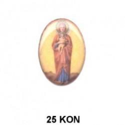 Virgen María con niño Oval 25 mm