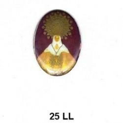 Virgen María del Lledo Oval 25 mm
