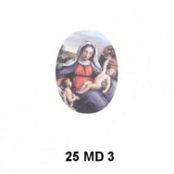 Virgen Madona Oval 25 mm